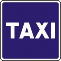 Estación, reservado para taxis