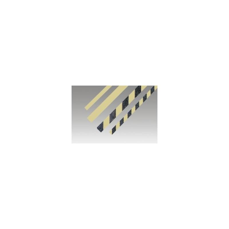 SYSA15737-Banda de señalización de peligro. fotoluminiscente-negra