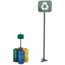 Poste señal  punto verde