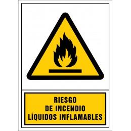 SYSSA,Señal Riesgo de incendio. Líquidos inflamables