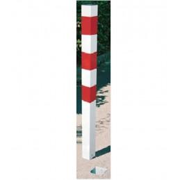 Poste hincado temporal rojo y blanco