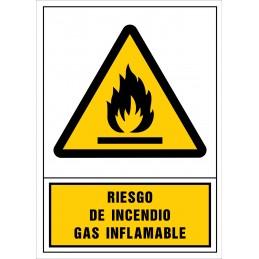 SYSSA,Señal Riesgo de incendio. Gas inflamable