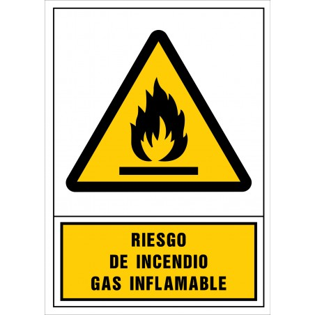 Riesgo de incendio. Gas inflamable