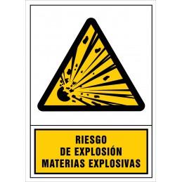SYSSA,Señal Riesgo de explosión. Materias explosivas