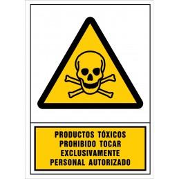 SYSSA,Señal Productos tóxicos.Proh. Tocar exclusivamente personal auto