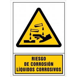 SYSSA,Señal Riesgo de corrosión. Líquidos corrosivos.