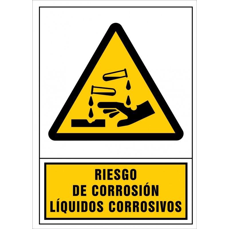 2031S-Señal de Riesgo de corrosión Líquidos corrosivos - Referencia 2031