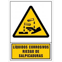 SYSSA,Señal Líquidos corrosivos.Riesgo de salpicaduras