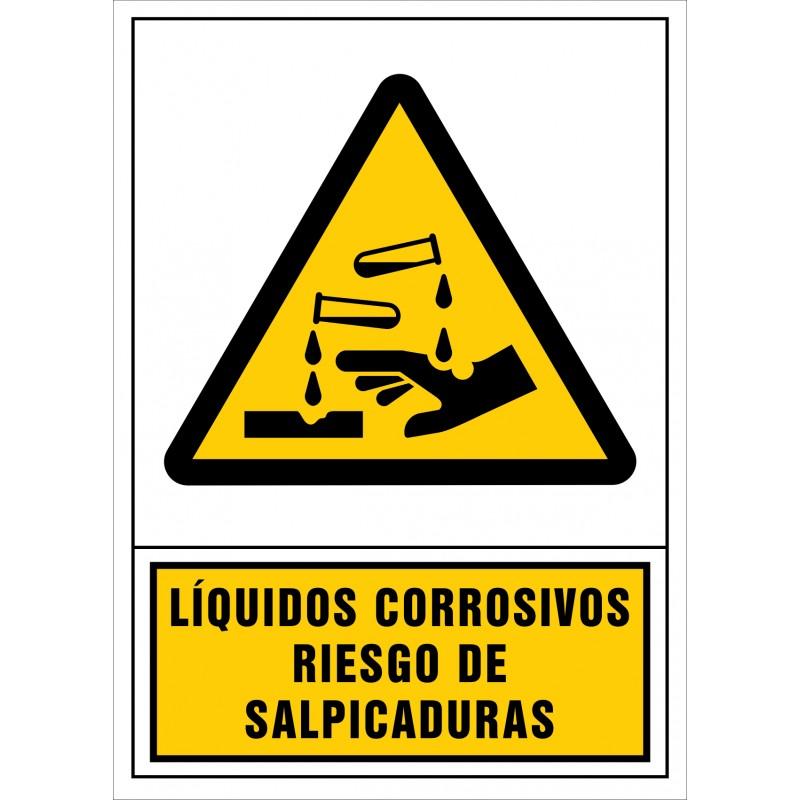 2032S-Señal de Líquidos corrosivos Riesgo de salpicaduras - Referencia 2032