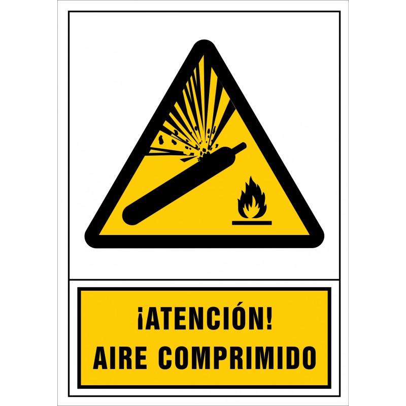 2092S-Señal de ¡Atención! Aire comprimido - Referencia 2092
