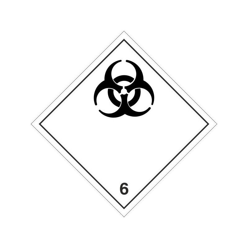 062ASB-Etiquetas ADR Materias infecciosas marginal 6 - 10x10 cm