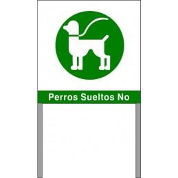 Placa para jardin Perros...