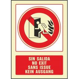 SYSSA,Señal No hay salida (cuatro idiomas)