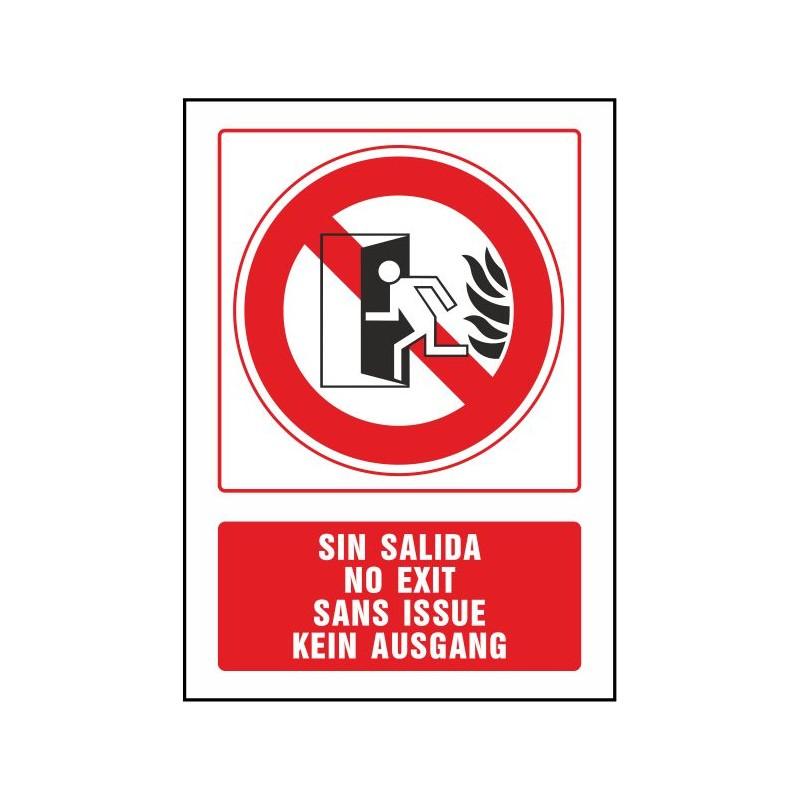 5085S-Señal No hay salida (cuatro idiomas) - Referencia 5085S
