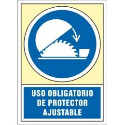 SYSSA,Señal Uso obligatorio de protector ajustable