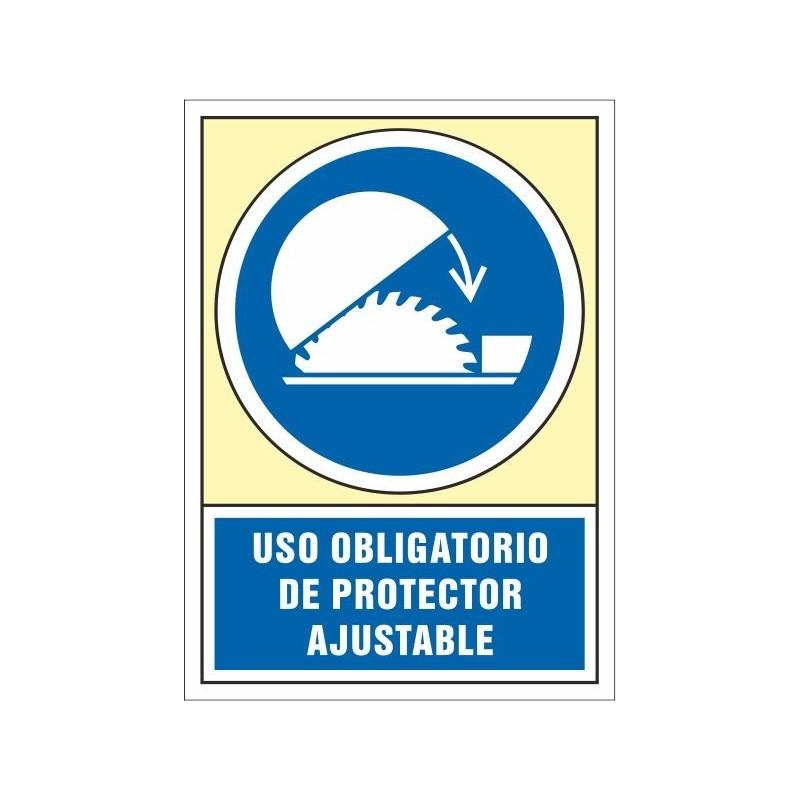 4025S-Señal Uso obligatorio de protector ajustable - Referencia 4025S