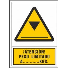 SYSSA,Señal ¡Atención! Peso limitado a…... kgs.