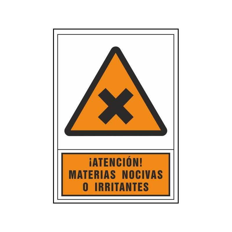 2118S-Atención materias nocivas o irritantes