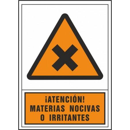 Atención materias nocivas o irritantes