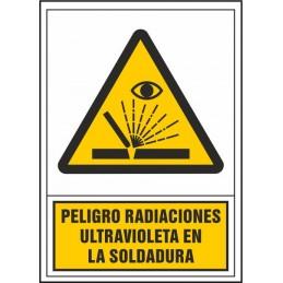 SYSSA,Señal Peligro radiaciones ultravioleta en soldadura
