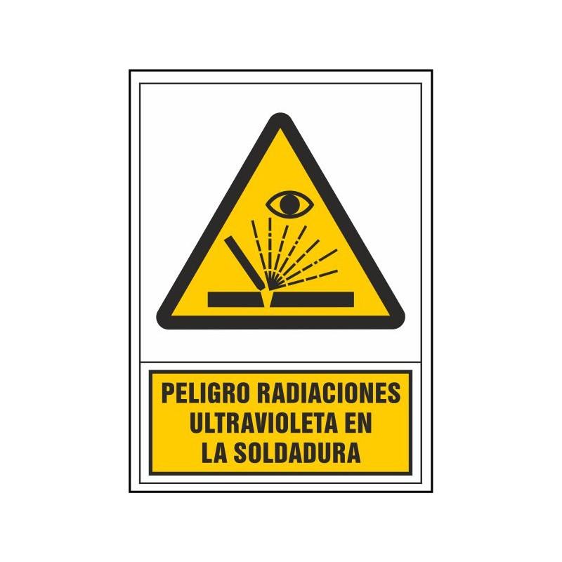 2123S-Señal de Peligro radiaciones ultravioleta en soldadura - Referencia 2123