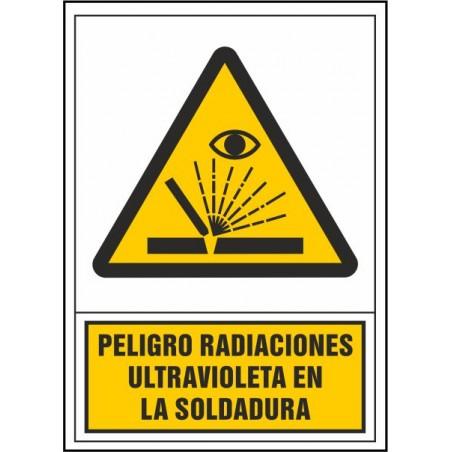 Peligro radiaciones ultravioleta en soldadura