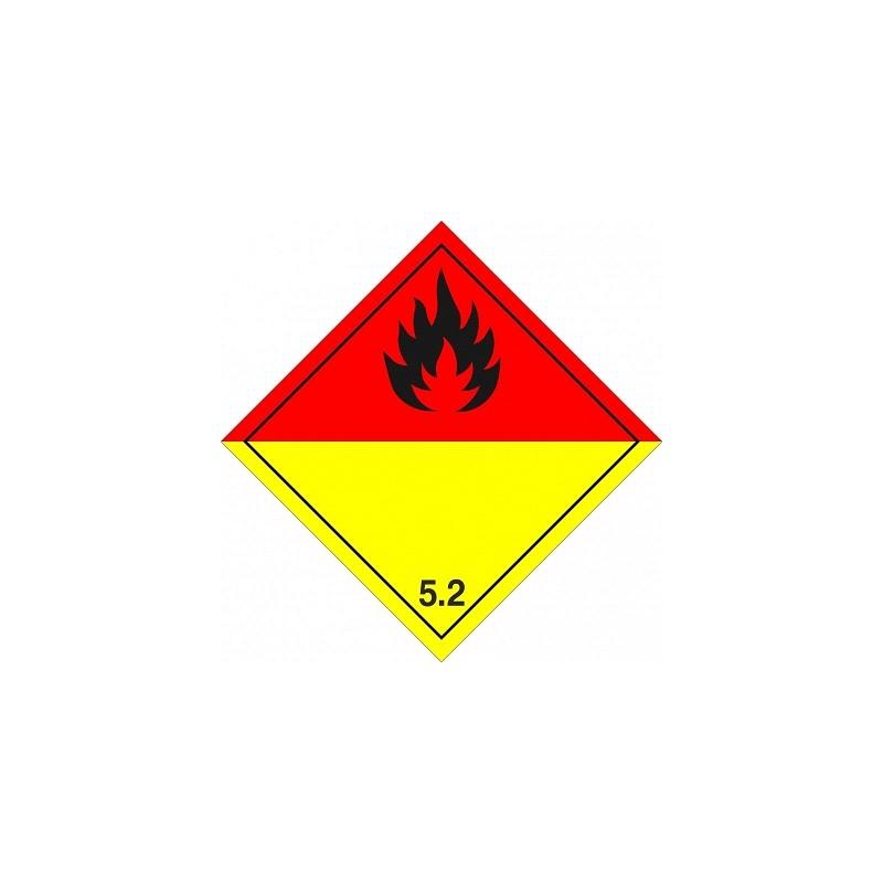 05210AS-Etiquetas Peróxidos orgánicos marginal 5.2, 10x10 cm