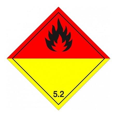 Etiquetas Peróxidos orgánicos marginal 5.2, 10x10 cm