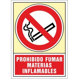 SYSSA, Senyal  Prohibit fumar. Matèries inflamables