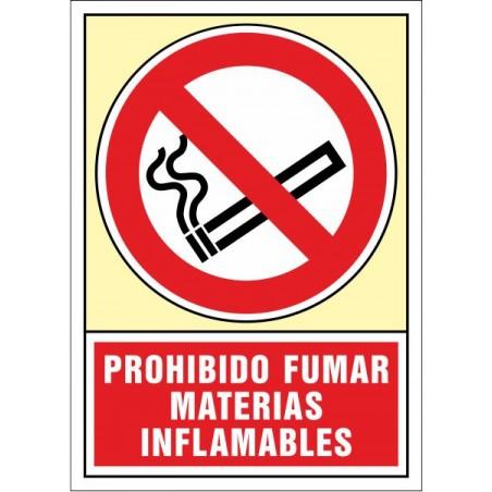 Prohibit fumar. Matèries inflamables
