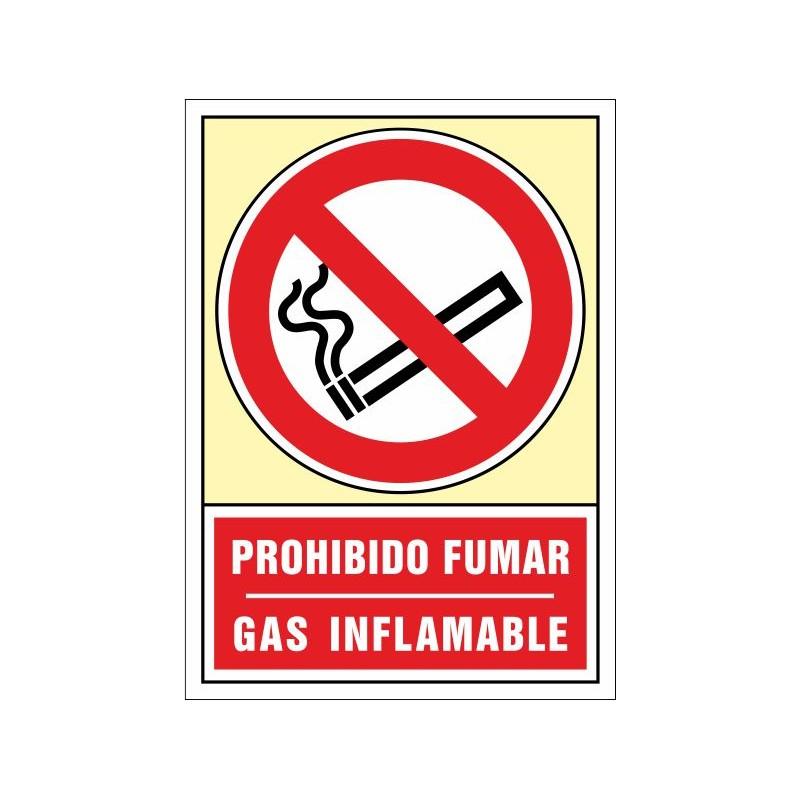 3004S-Señal Prohibido fumar, Gas inflamable - Referencia 3004S
