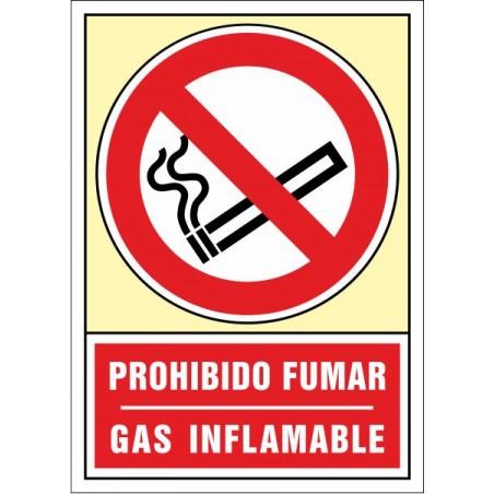 Prohibit fumar. Gas inflamable