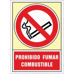 SYSSA, Senyal  Prohibit fumar. Combustible