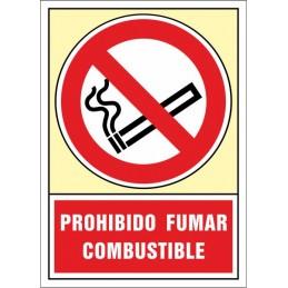 SYSSA, Senyal  Prohibit fumar. Combustible