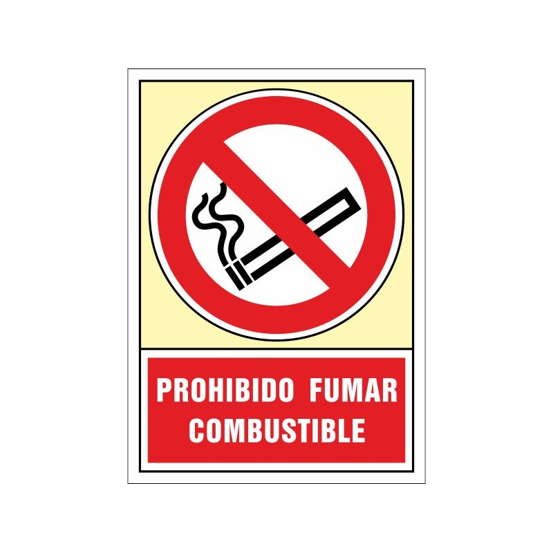 3005S-Senyal Prohibit fumar, Combustible - Referència 3005S