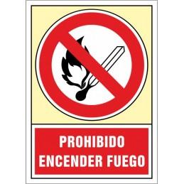 SYSSA,Señal Prohibido encender fuego