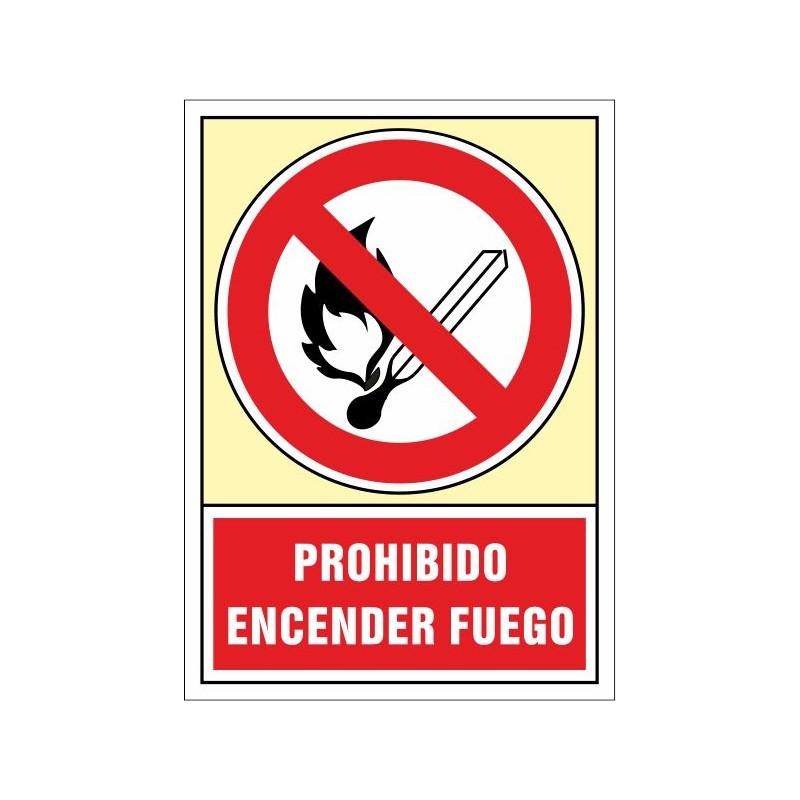 3008S-Senyal Prohibit encendre foc - Referència 3008S