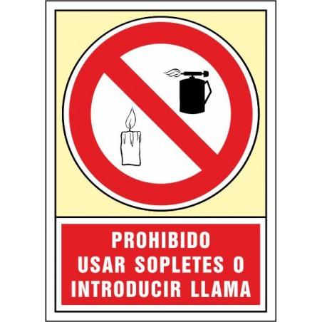Prohibit utilitzar bufadors i introduir flama