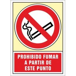 SYSSA,Señal Prohibido fumar a partir de este punto