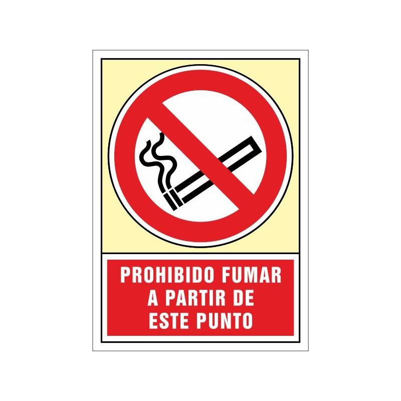 3010S-Senyal Prohibit fumar a partir d'aquest punt - Referència 3010S