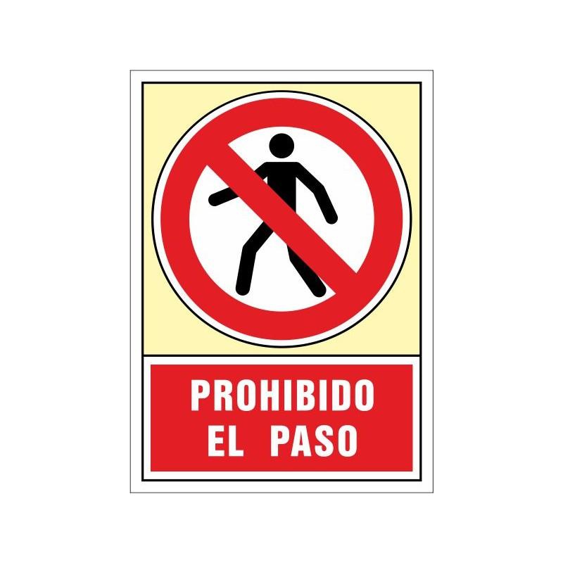 3020S-Señal Prohibido el paso - Referencia 3020S
