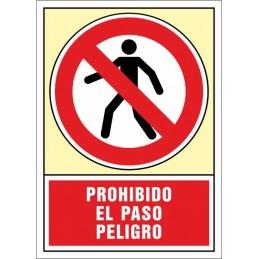 SYSSA,Señal Prohibido el paso peligro