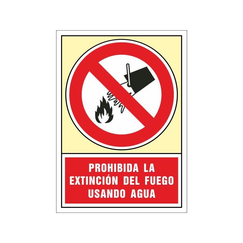 3042S-En caso de incendio. Aquí; no usar agua como medio de extinción
