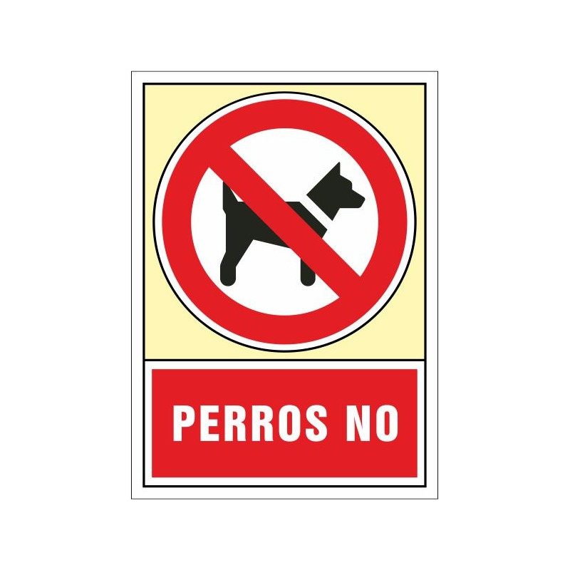 """3043S-Senyal Gossos """"no"""" - Referència 3043S"""