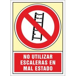 SYSSA,Señal No utilizar. Escaleras en mal estado