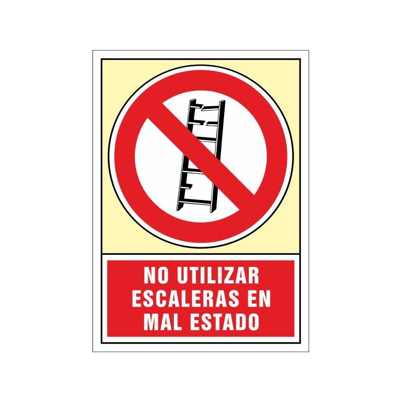 3044S-Señal No utilizar. Escaleras en mal estado - Referencia 3044S