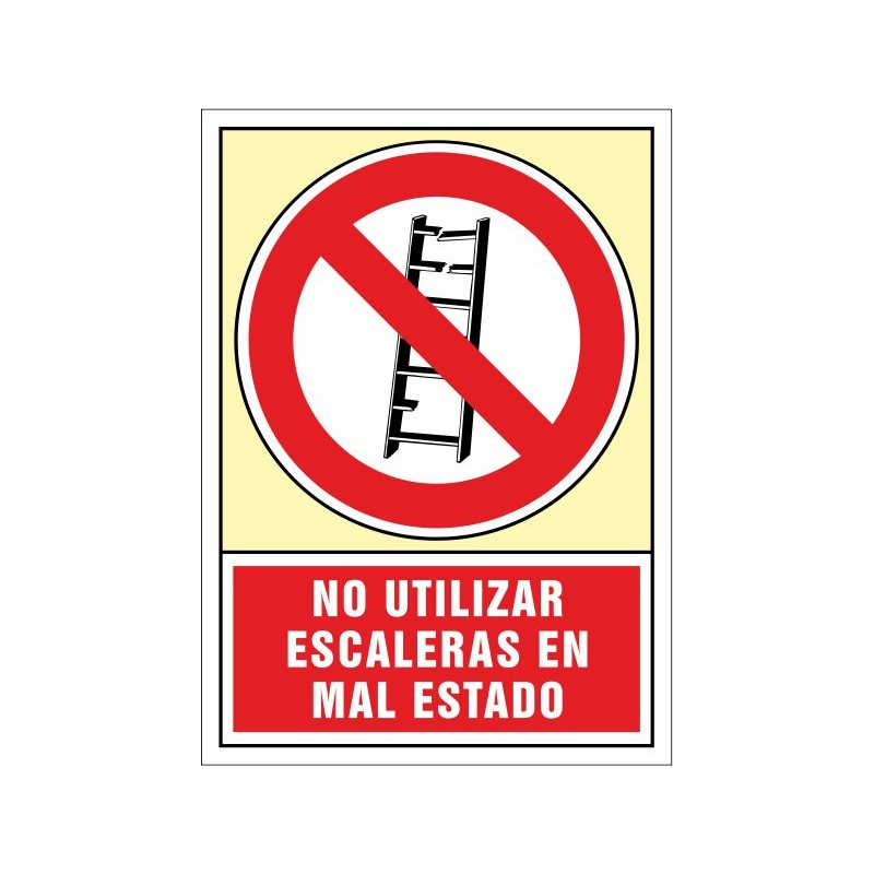 3044S-Senyal No utilitzar. Escales en mal estat - Referència 3044S