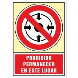 SYSSA,Señal Prohibido permanecer en este lugar