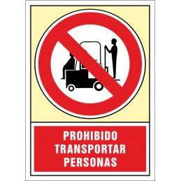 SYSSA,Señal Prohibido transportar personas