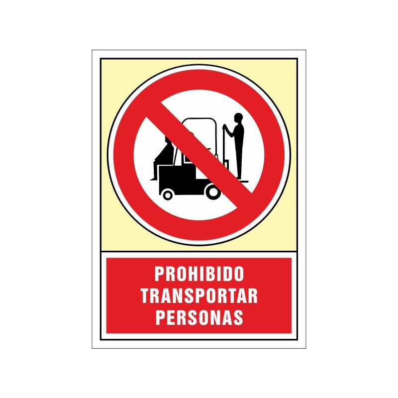 3050S-Prohibit transportar persones